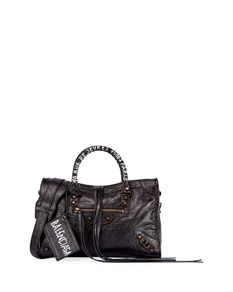 Balenciaga Classic City AJ Small Graffiti Address Satchel