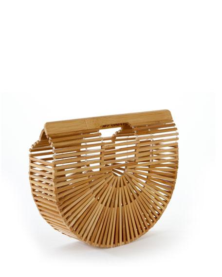 CULT GAIA Gaia'S Ark Small Bamboo Clutch Bag, Brown in Natural