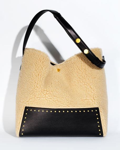 Alter Faux-Shearling Hobo Bag