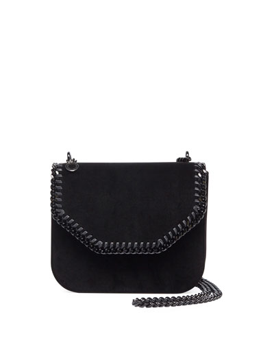 Mini Falabella Velvet Chain Shoulder Bag with Tonal Hardware