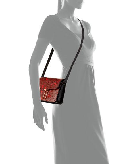Mini H Tooled Leather Crossbody Bag