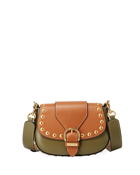 Navigator Studded Leather Crossbody Bag