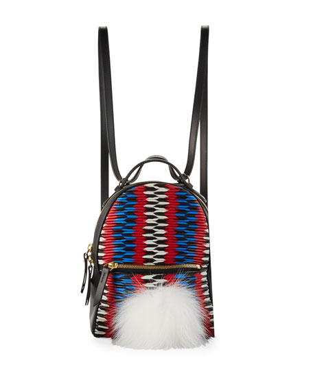 Baby Mick Chevron Backpack with Fur