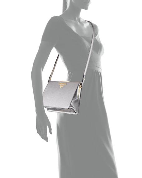 Soft Frame Saffiano Crossbody Bag
