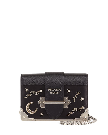 2354ea277da3 Prada Cahier Small Stars Moon Trunk Shoulder Bag