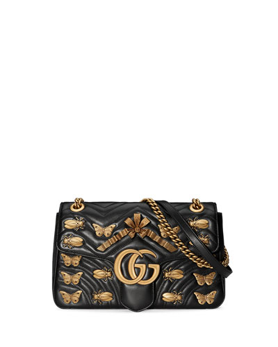 GG Marmont 2.0 Medium Insect Shoulder Bag