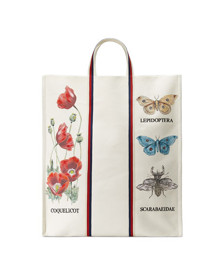 Bestiary Large Botanical Canvas Tote Bag