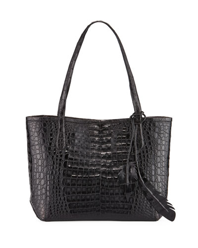 Erica Small Crocodile Leaf Tote Bag
