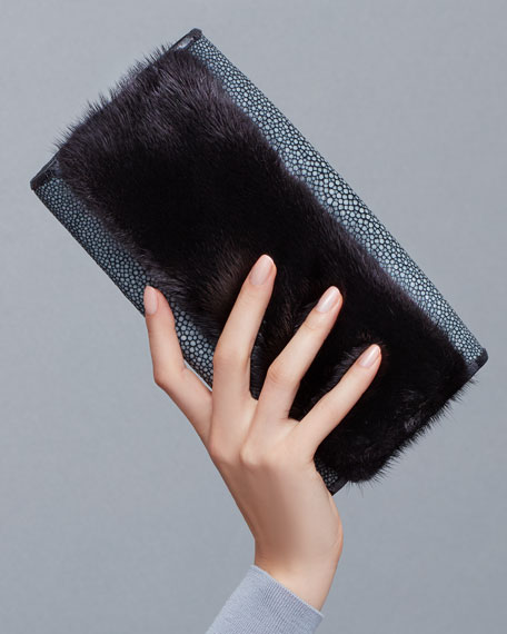 Stingray Flap Clutch Bag