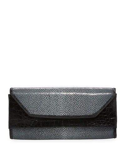 Stingray Flap Clutch Bag