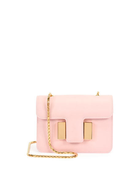 TOM FORD Sienna Chain T-Buckle Bag, Baby Pink