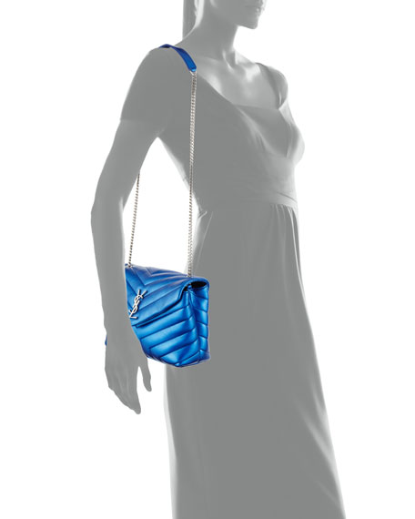 Loulou Monogram Small Metallic Leather Shoulder Bag