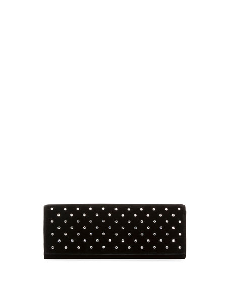 FETICHE CRYSTAL EMBELLISHED CLUTCH - BLACK