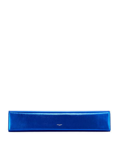 Fetiche Exaggerated East-West Napa Clutch Bag