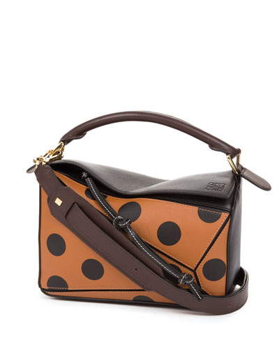Puzzle Circle Leather Bag