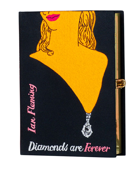 Olympia Le-Tan Diamonds Are Forever Book Clutch Bag