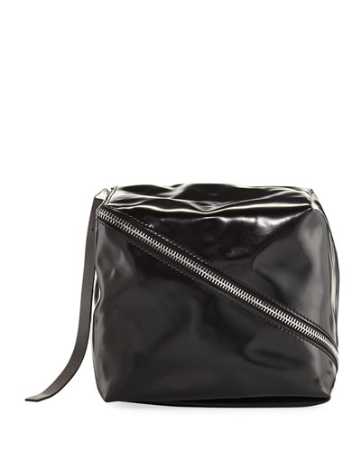 Faux Leather Cube Bag