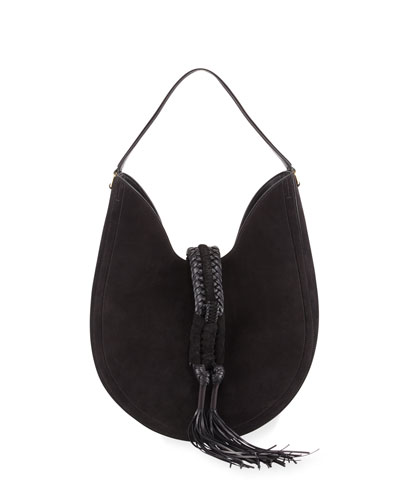 Ghianda Large Suede Hobo Bag
