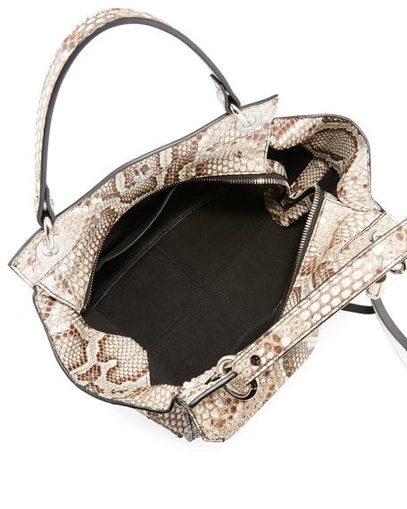 Curl Python Top-Handle Bag
