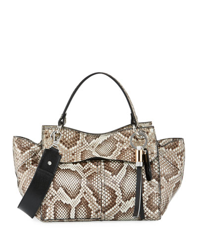 Curl Python Top-Handle Bag