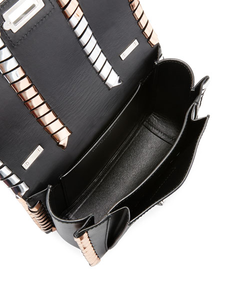Hava Chain Handbag with Metallic Whipstitch