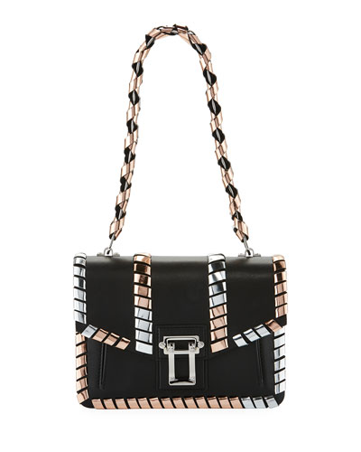 Hava Chain Handbag with Metallic Whipstitch