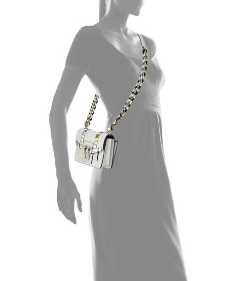 Hava Metallic-Whipstitch Crossbody Bag
