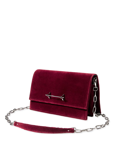 Sofia Velvet Chain Shoulder Bag