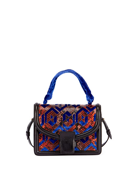 Patchwork Top-Handle Bag