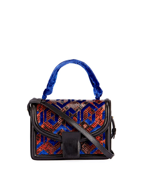 Patchwork Top-Handle Bag