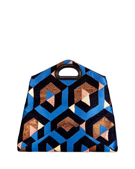 Convertible Patchwork Brocade Clutch Bag