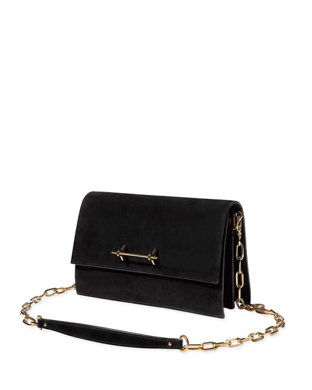 Sofia Suede Chain Shoulder Bag