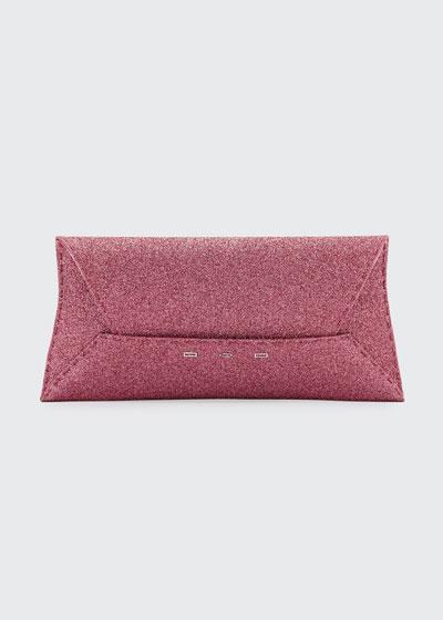 Manila Stretch Sparkle Clutch Bag, Pink Metallic