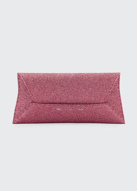 Manila Stretch Sparkle Clutch Bag, Pink Metallic