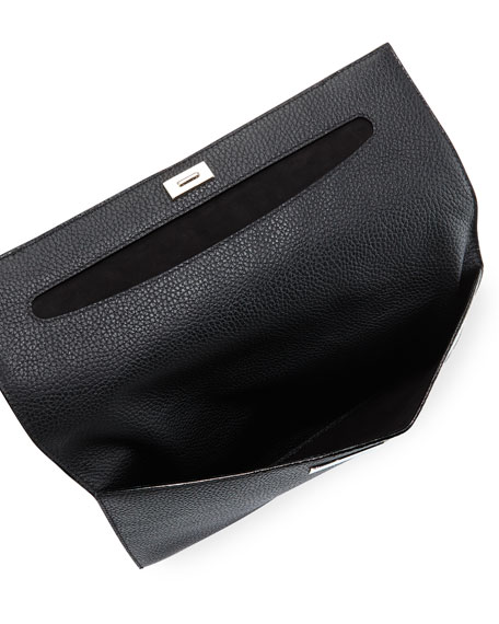 Passe Partout Leather Clutch Bag