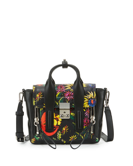 ece006a60356 3.1 Phillip Lim Pashli Mini Floral Leather Satchel Bag