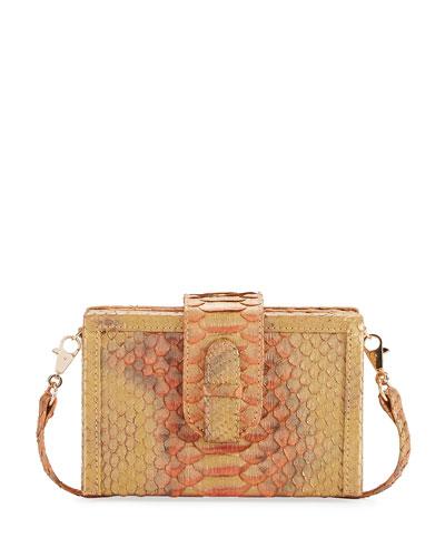 Mandolin Python Box Clutch Bag