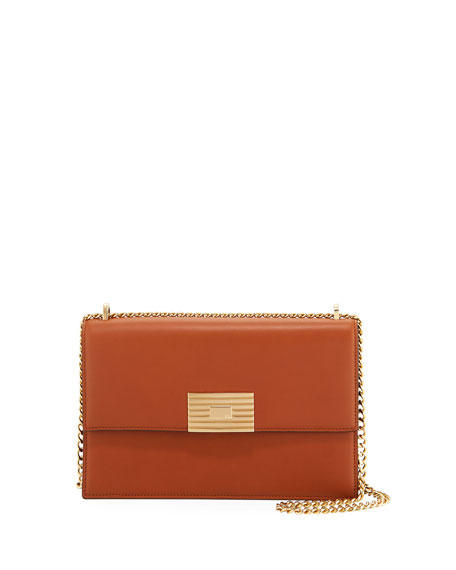 Leather RL Chain Shoulder Bag