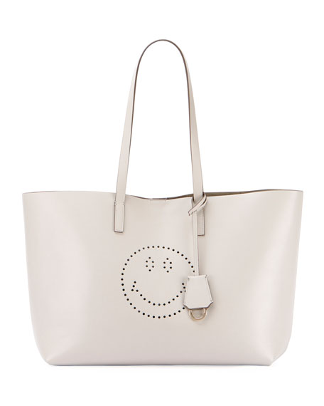 9cc5a43f968b Anya Hindmarch Ebury Leather Smiley Shopper Tote Bag