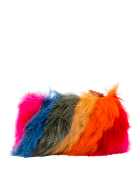 Creeper Fur Clutch Bag