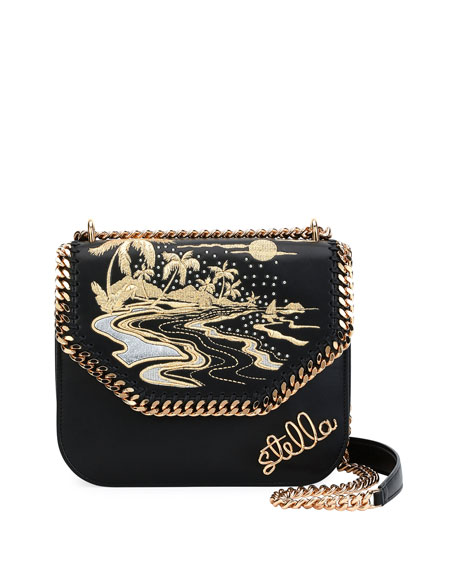 Falabella Hawaiian Embroidered Shoulder Bag