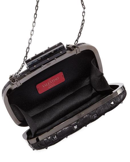 Rockstud Spike Quilted Minaudiere Bag