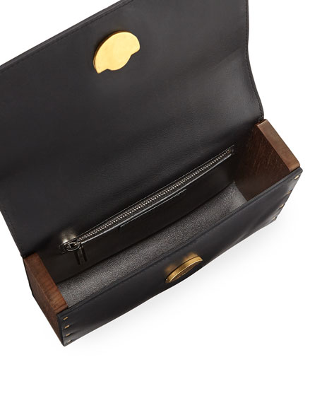 Tool Bag Small Calf/Wooden Clutch Bag