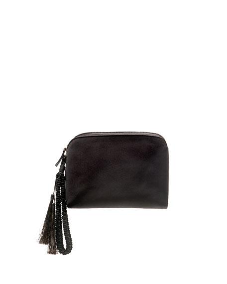 Satin Tassel Wristlet Clutch Bag