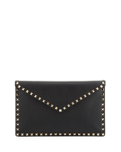 Rockstud Large Envelope Clutch Bag