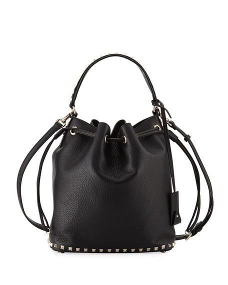 Rockstud Large Leather Bucket Bag