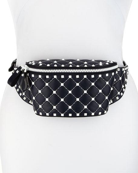 Rockstud Spike Quilted Belt Bag