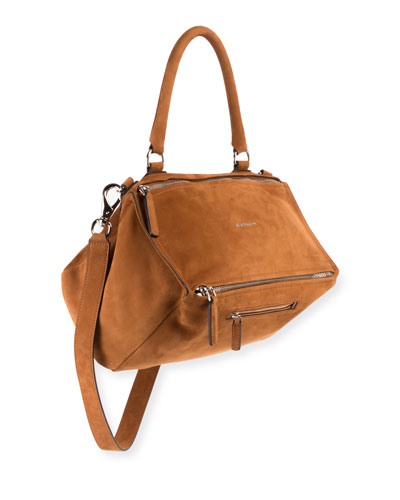 Pandora Medium Nubuck Leather Satchel Bag