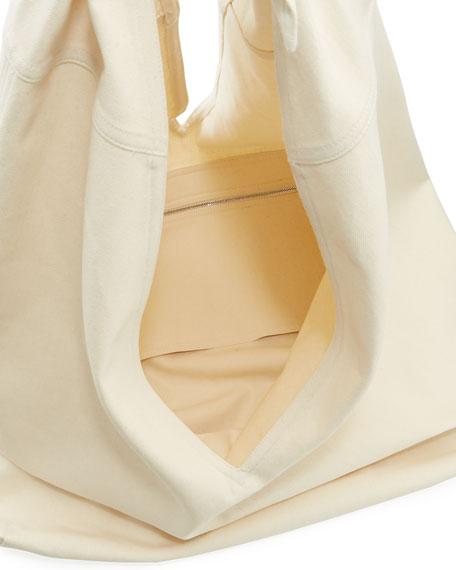 Bindle Knot Denim Hobo Bag
