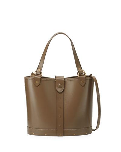 Studded Calfskin Bucket Bag